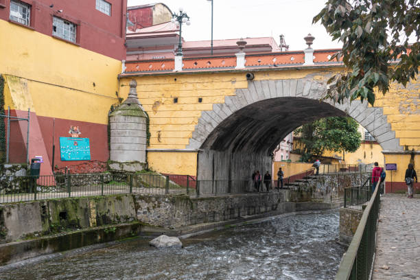 Orizaba, Veracruz, Mexico Orizaba, Veracruz, Mexico- December 31, 2019: View of Paseo del Rio in a cloudy day at Orizaba, Veracruz, Mexico orizaba stock pictures, royalty-free photos & images