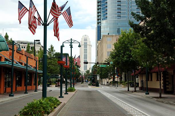 올랜도 브룩할로우 street - 플로리다 미국 뉴스 사진 이미지