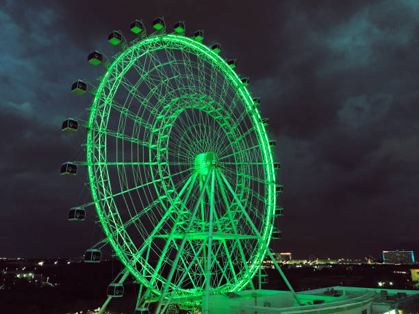 Orlando eye ferris wheel at night. Photo image Orlando eye ferris wheel at night background. Photo image ferris wheel stock pictures, royalty-free photos & images