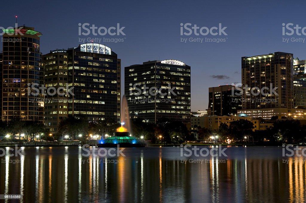Orlando Florida Downtown from Lake Eola royalty-free stock photo