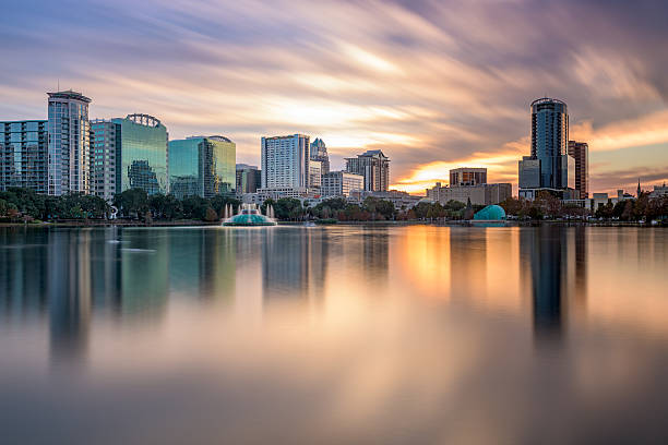 orlando florida skyline - orlando florida photos stock photos and pictures