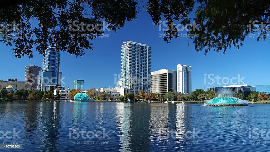 Orlando, Florida USA skyline stock photo