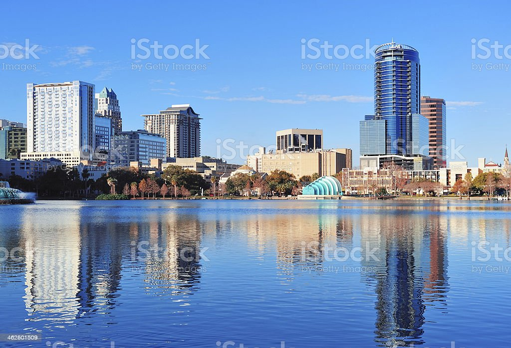 Orlando morning stock photo