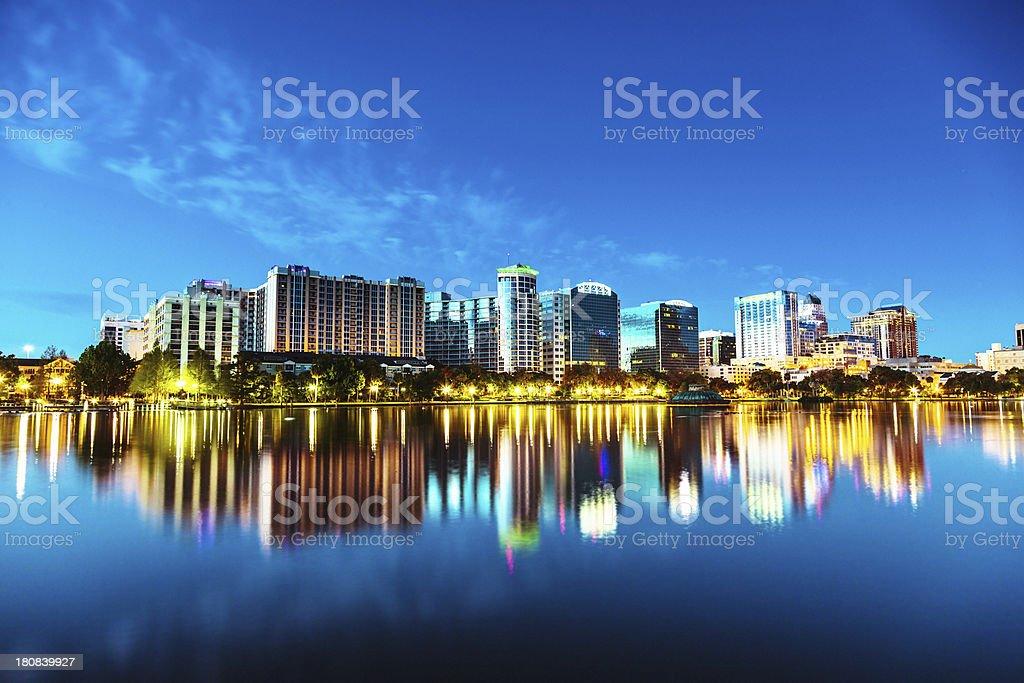 Orlando Skyline at Twilight stock photo