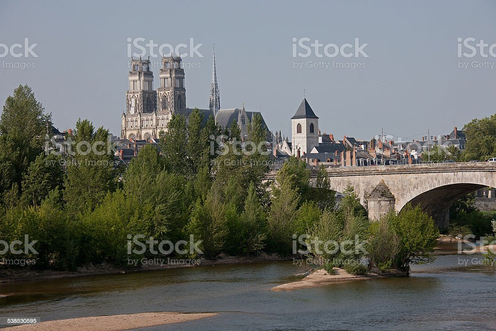 Orléans Cathedral (Basilique Cathédrale Sainte-Croix) (Orleans, France) stock photo