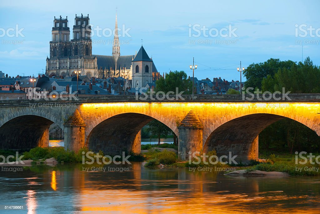 Orleans at a summer evening stock photo
