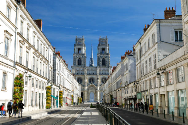 Orleans Cathedral, France stock photo