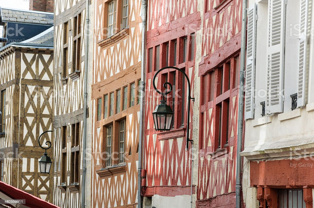 Orleans traditional houses stock photo