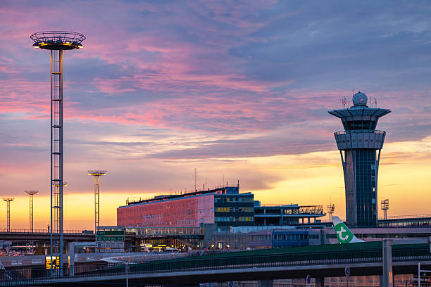 Orly airport in Paris France stock photo