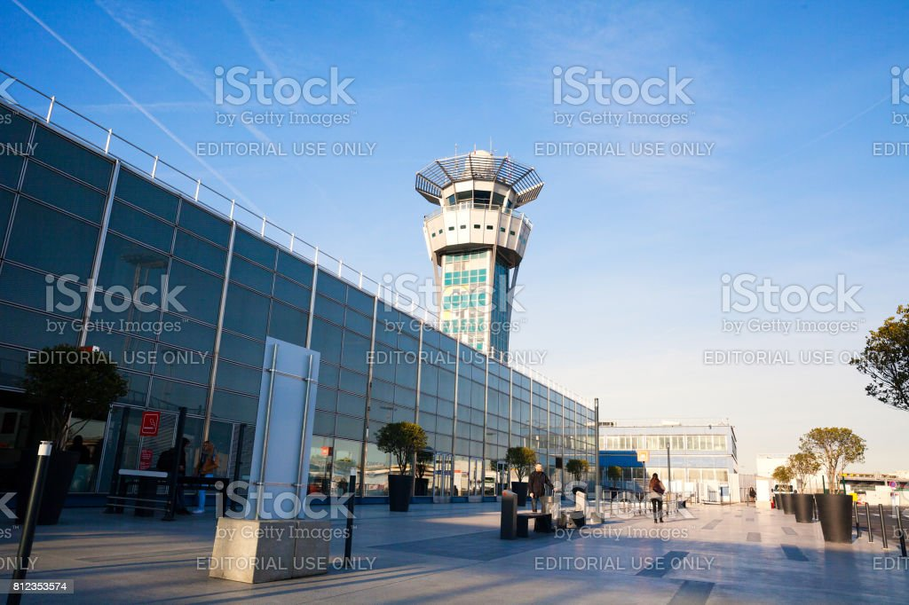 Orly International Airport, Paris stock photo