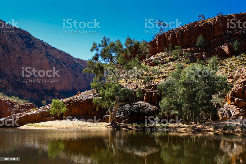 Ormiston Gorge, Central Australia stock photo