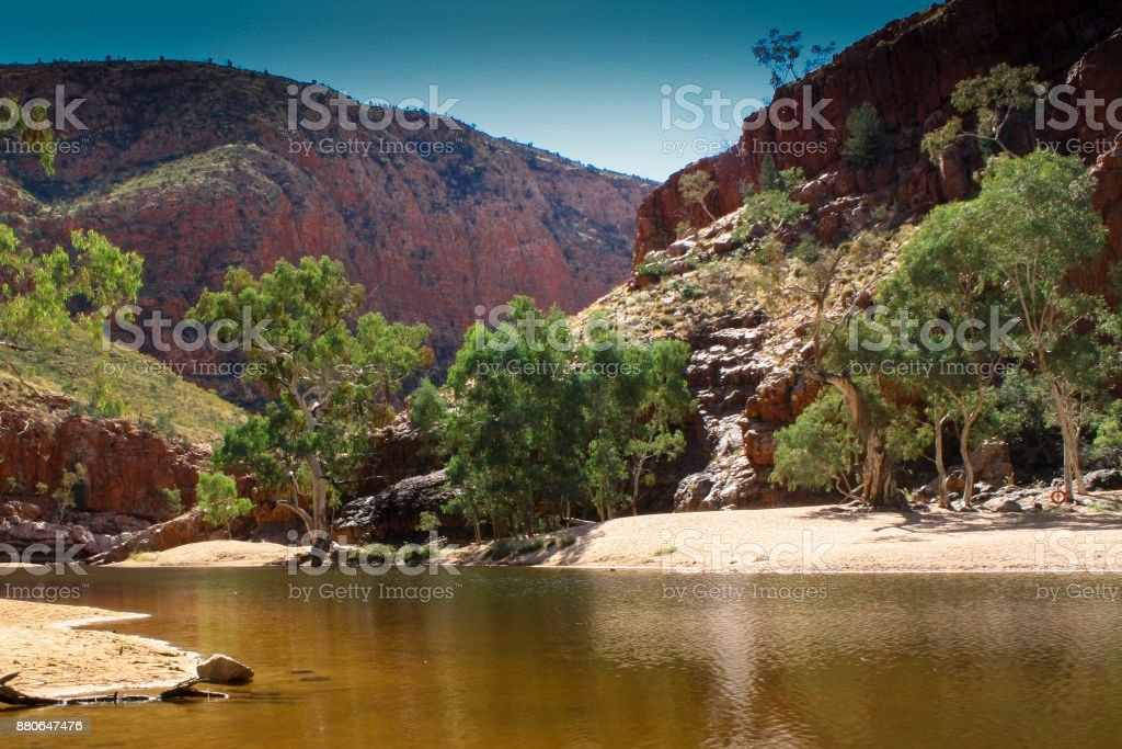 ormiston gorge, macdonnell ranges, central australia stock photo