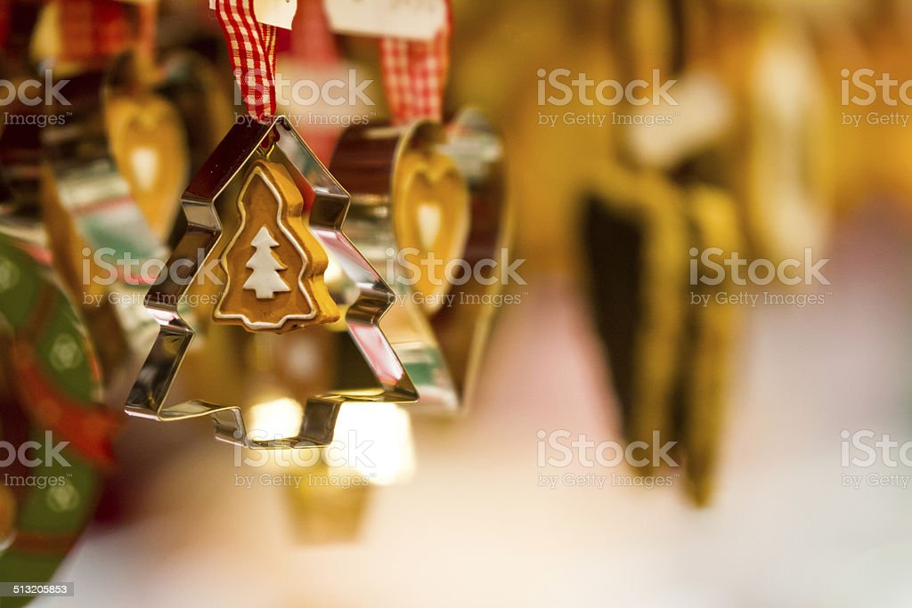 Ornament and Cookie Cutter stock photo