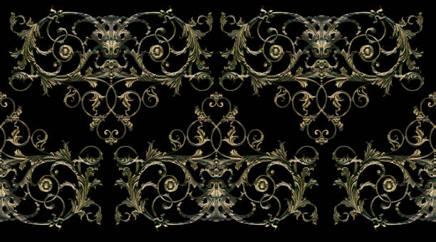 ornament, decor, decoration element. - filigree stock photos and pictures