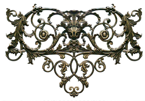 ornament, decor, decoration element. - baroque stock photos and pictures
