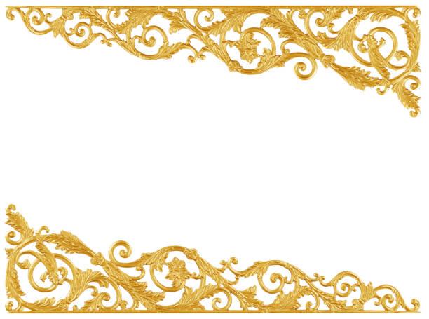 éléments d'ornement, motifs floraux or vintage - motif ornemental photos et images de collection