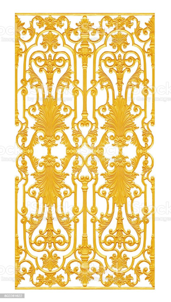 Ornament elements, vintage gold floral designs stock photo