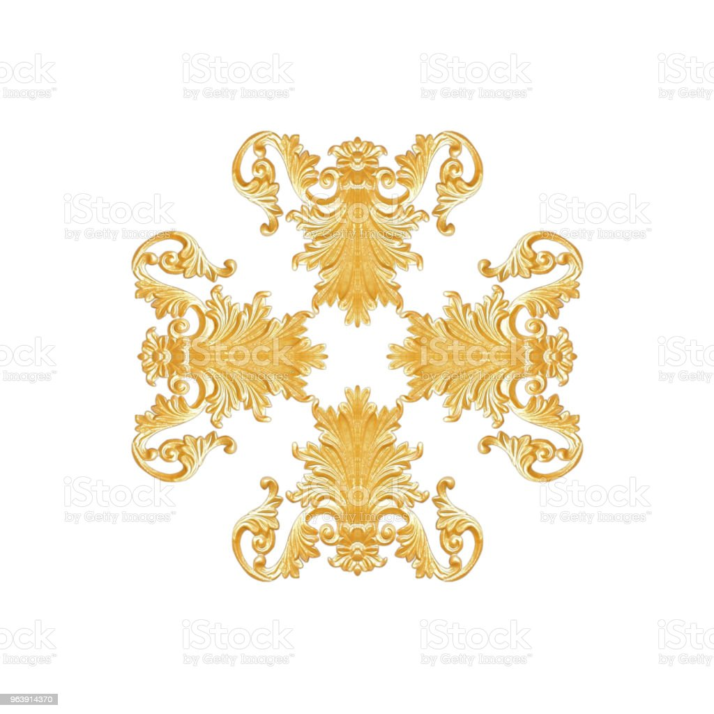 Ornament elements, vintage gold floral designs - Royalty-free Abstract Stock Photo