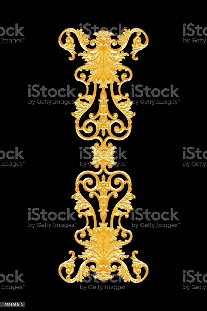 Ornament elements, vintage gold floral designs royalty-free stock photo
