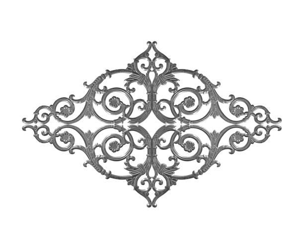 éléments d'ornement, motifs floraux gris vintage - motif ornemental photos et images de collection