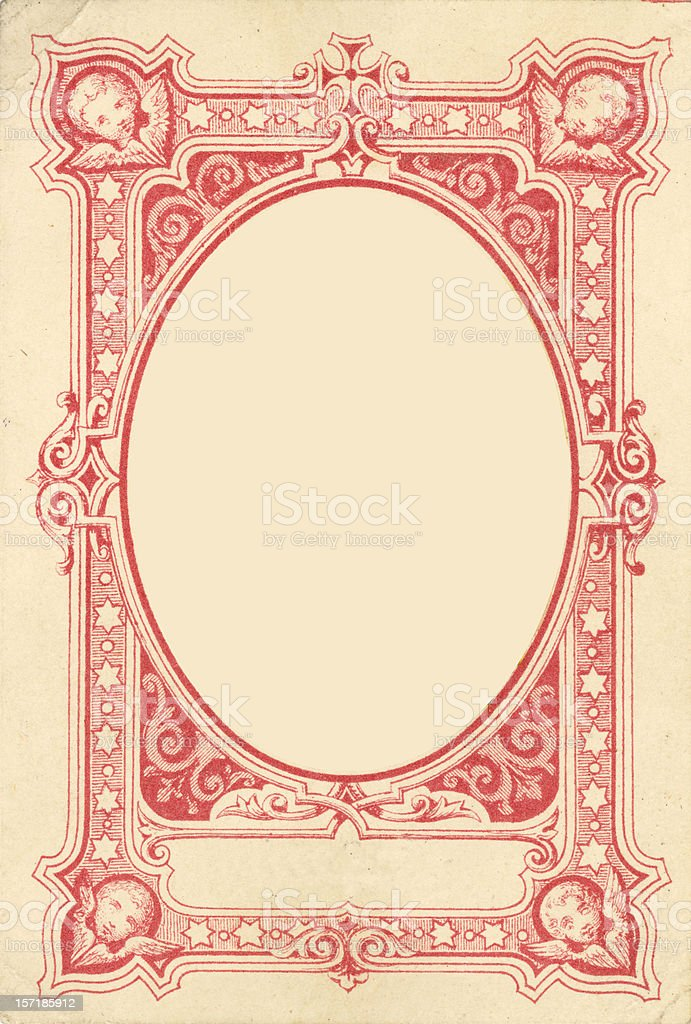Ornamental Angel frame stock photo