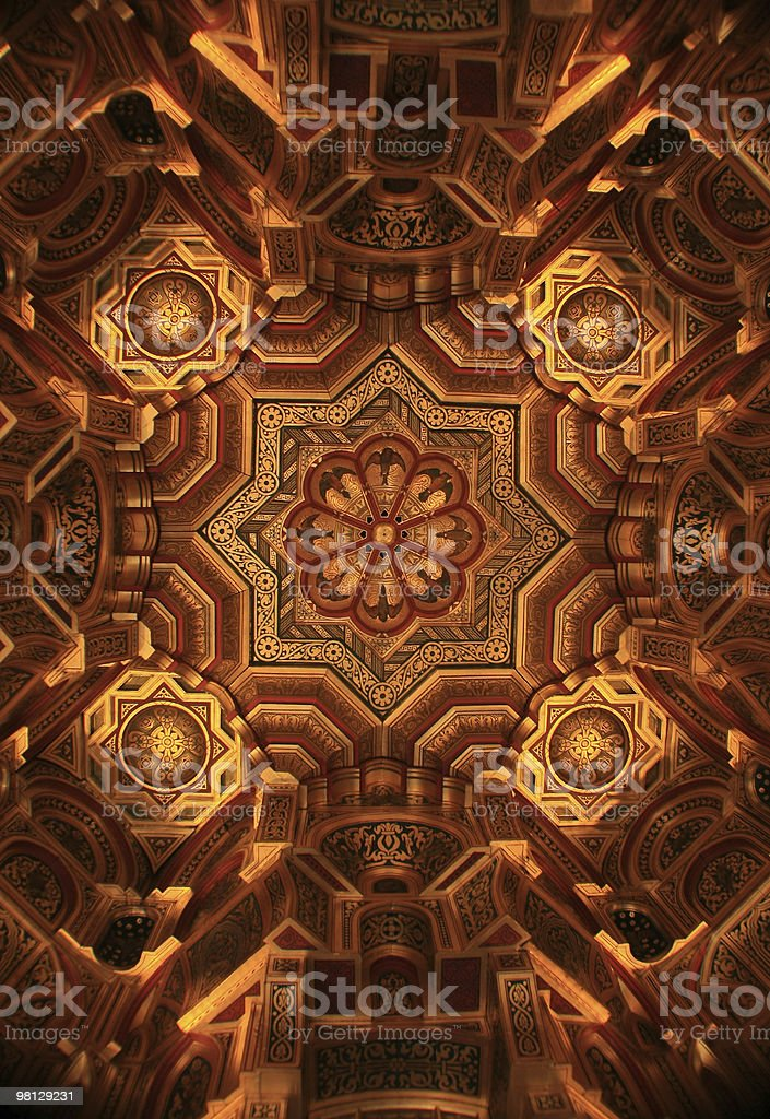 Ornamental  Ceiling royalty-free stock photo