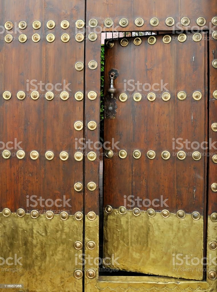 Ornamental door royalty-free stock photo