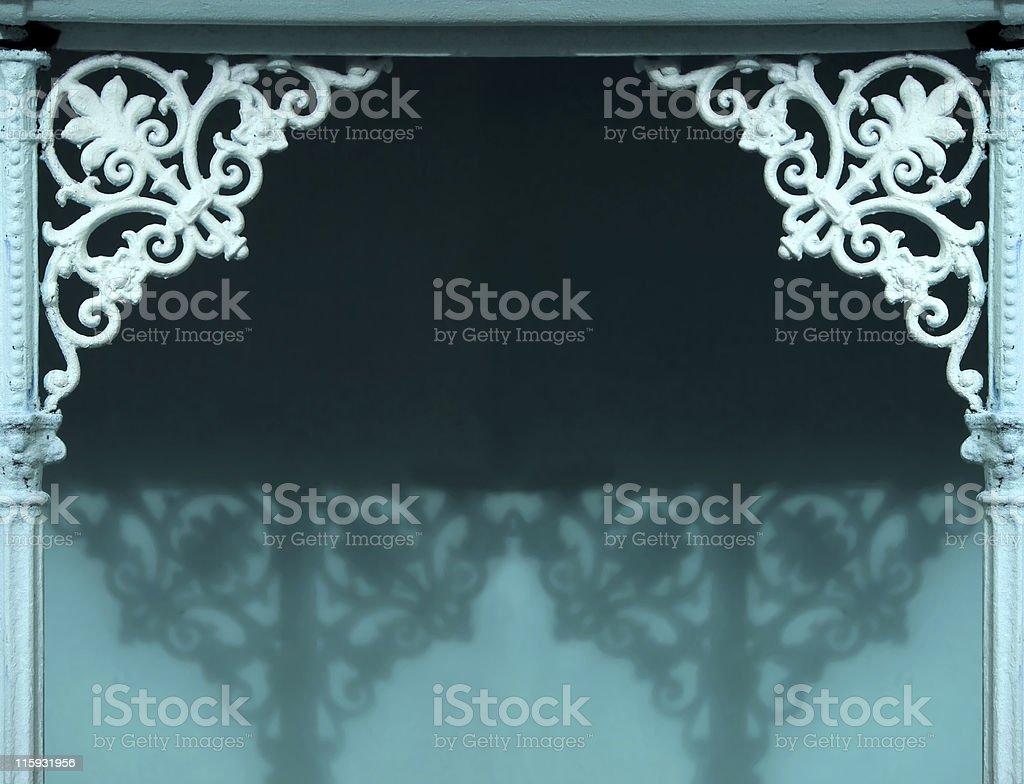 Ornamental entrance  - background. stock photo