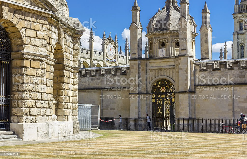 ornamental entrance to all soul's college, oxford, england stock photo