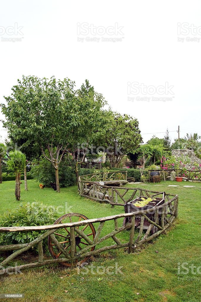 Ornamental Garden. stock photo