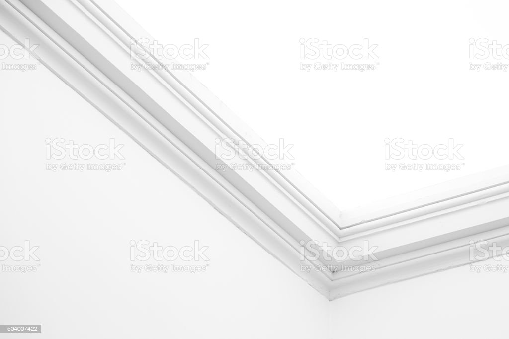Ornamental moulding stock photo