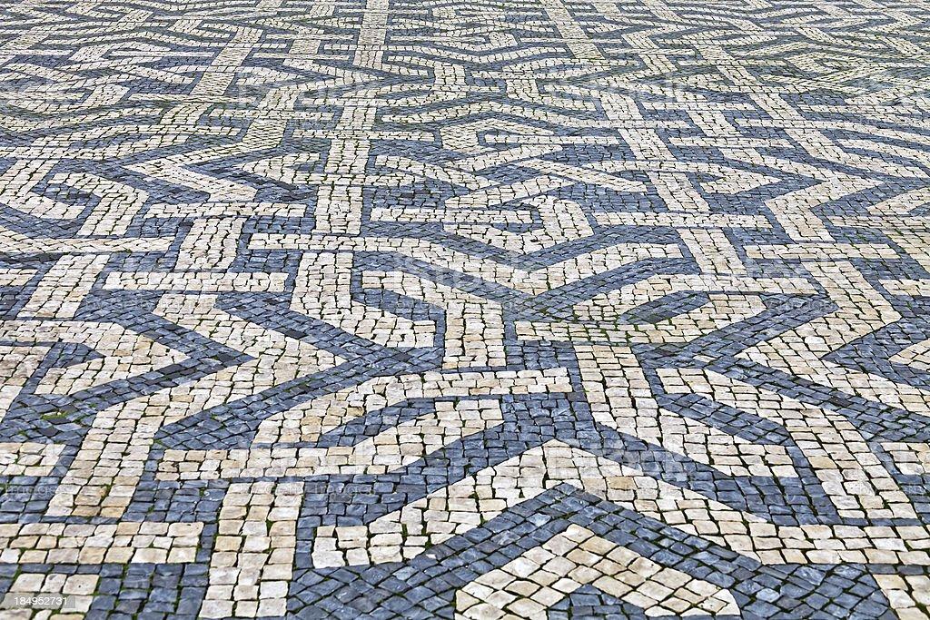 Ornamental pavement stock photo