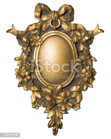 istock Ornamental picture frame for an oval portrait from bookcover 172372187
