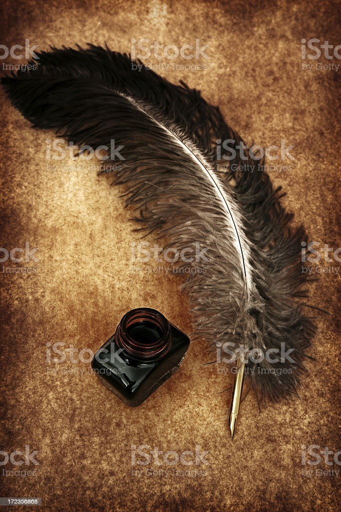 Ornamental Quill royalty-free stock photo