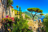 Ornamental suspended garden,Rufolo garden,Ravello,Amalfi coast,Italy,Europe