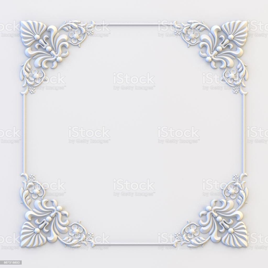 Ornamental Vintage Frames Floral Design Template Page Decoration ...