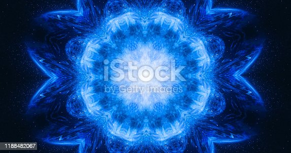 istock Ornamental vintage mosaic art flower. Abstract esoteric cosmic mandala. The budding lotus flower. 1188482067