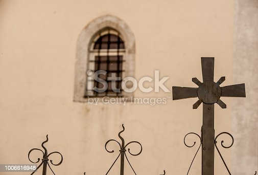 Ornamented Fence against Church Facade