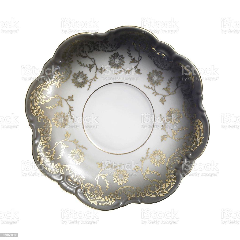 ornamented nostalgic saucer royalty-free stock photo