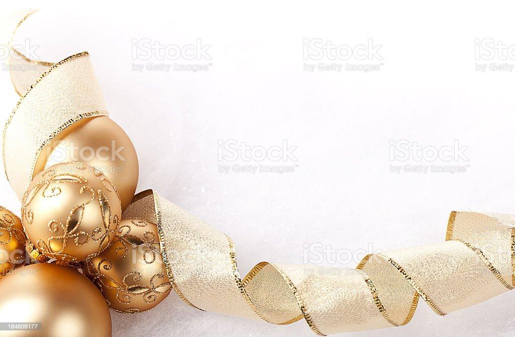 Ornaments And Ribbon royalty-free stock photo
