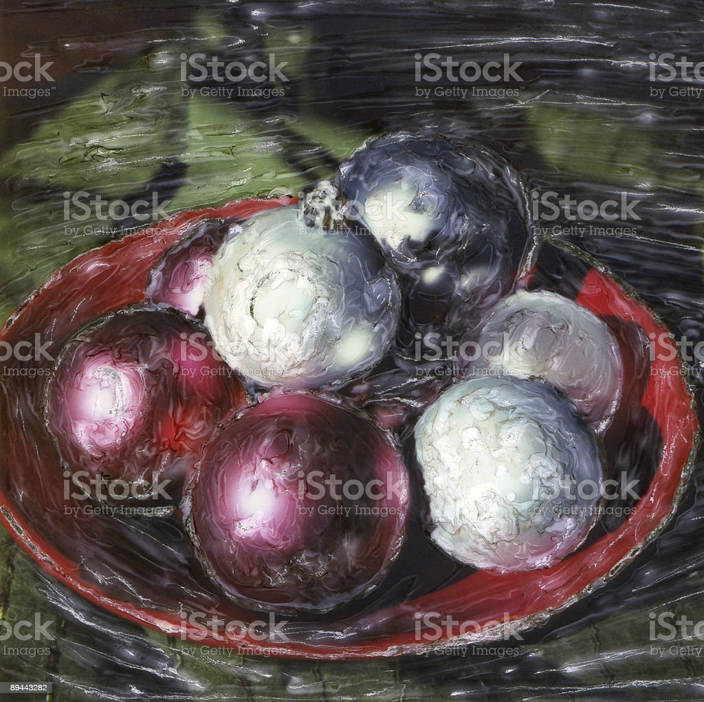 Ornaments in Red Bowl royalty-free stock photo