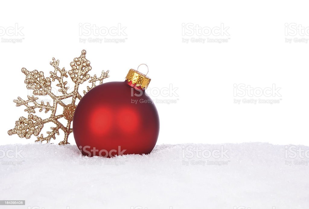 Ornaments In Snow royalty-free stock photo