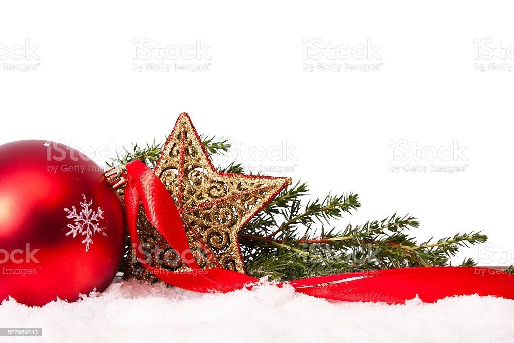 ornaments isolated on white background stock photo