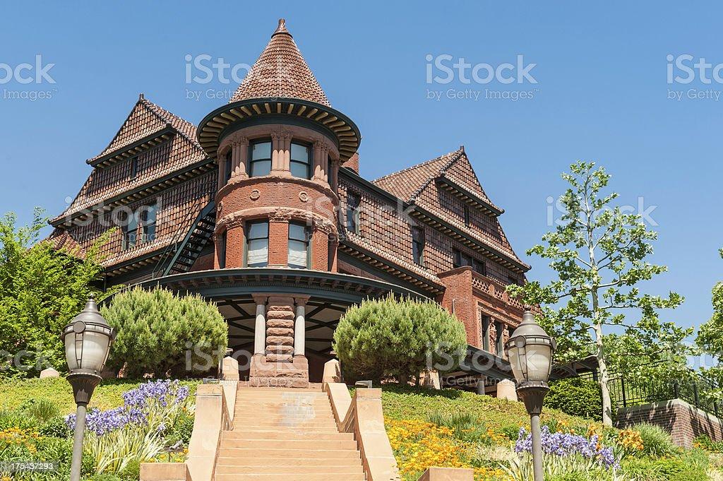 Ornate 19th Century mansion Salt Lake City Utah stock photo