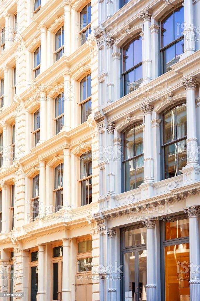 Ornate Apartment Buildings In Soho Manhattan New York City ...