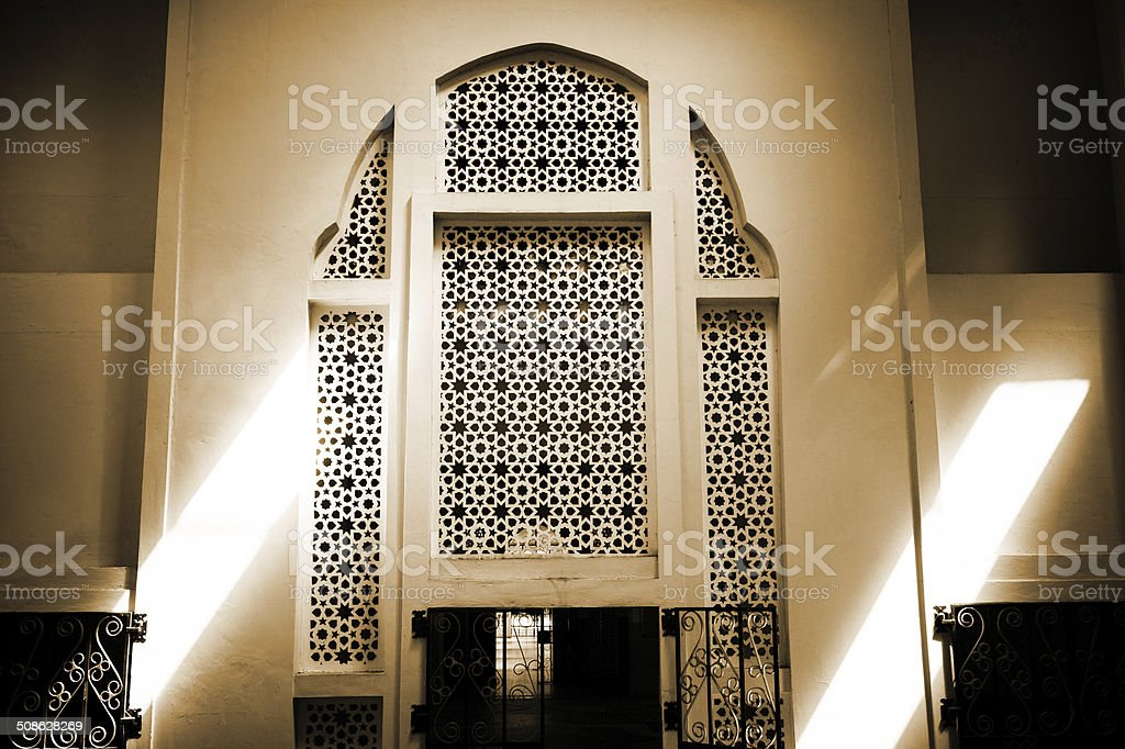 Ornate Arch with Gate royalty-free stock photo