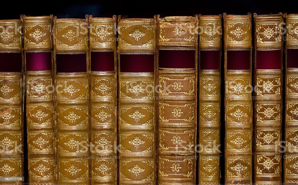 Ornate Books In A Row royalty-free stock photo