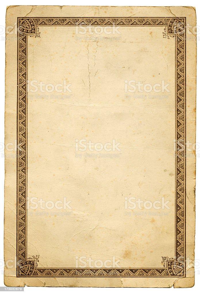 Ornate border stock photo