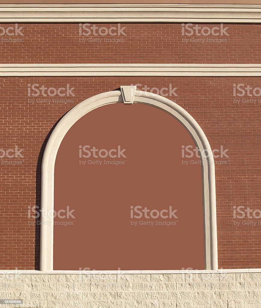 Ornate brick wall with copy space. royalty-free stock photo
