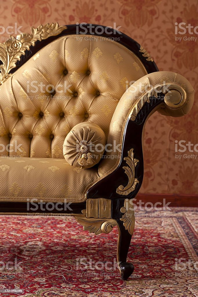 Ornate Chaise Longue royalty-free stock photo